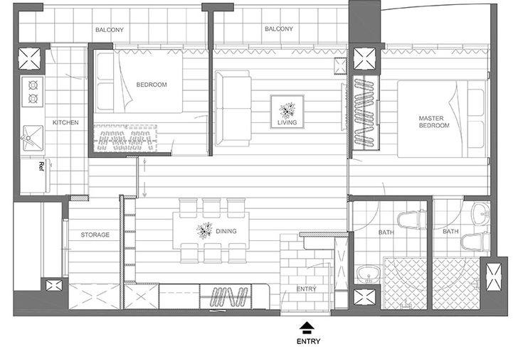 Small tiny taiwanese apartment layout