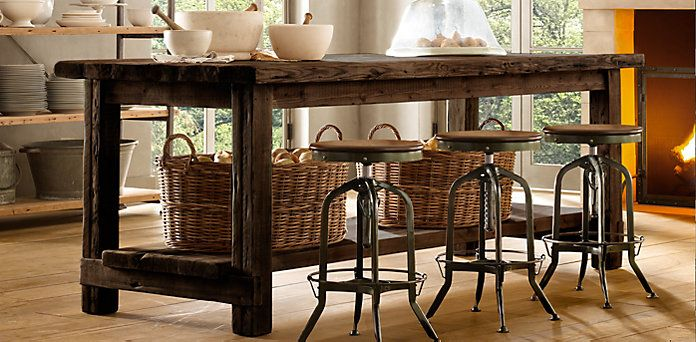 Wonderful Rectangular Table Collections | Restoration Hardware | My Room | Pinterest  | Wood Kitchen Island, Restoration Hardware And Restoration