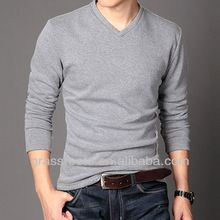 TX0637 Comfortable Fitted Cotton Mens Sweater V Neck Blank T-shirt Wholesale 2014  best buy follow this link http://shopingayo.space