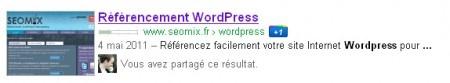 Google affiche le fil d'Ariane issu de WordPress