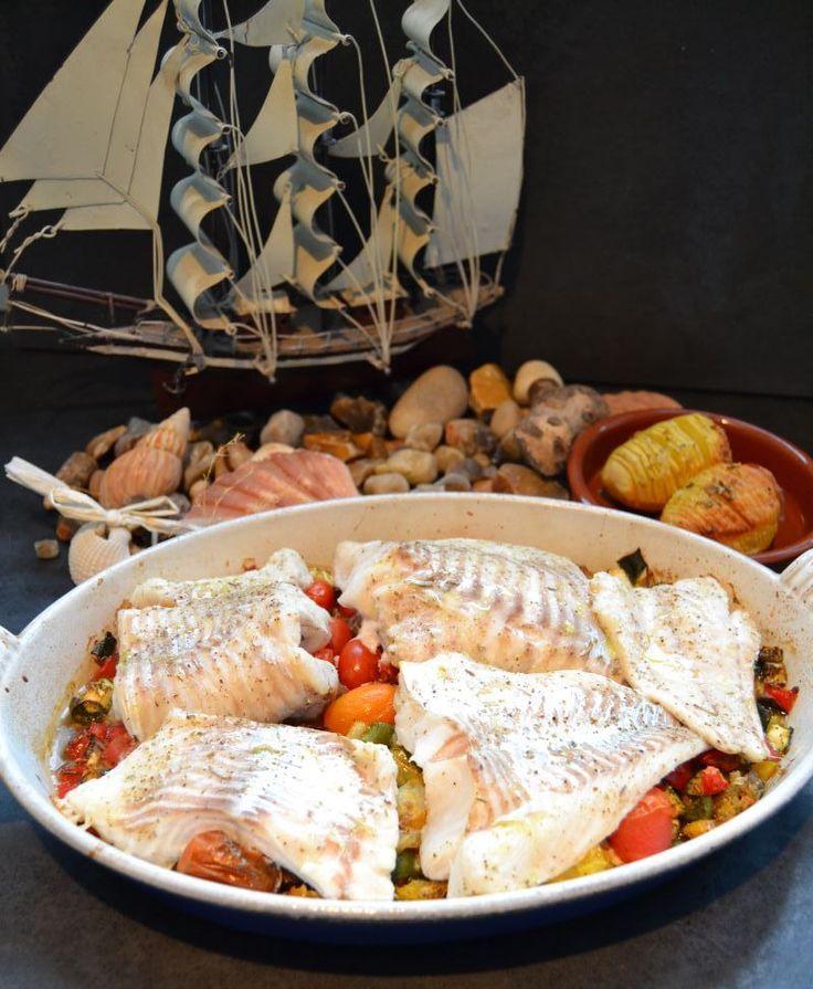 Dorsch mediterran auf Ratatouille im Ofen gegart Dieses leckere und super frische Dorschfilet habe ich vor unserer Abreise von unserem Kurzurlaub auf Fehmarn direkt bei einem Fischer vom Kutter …
