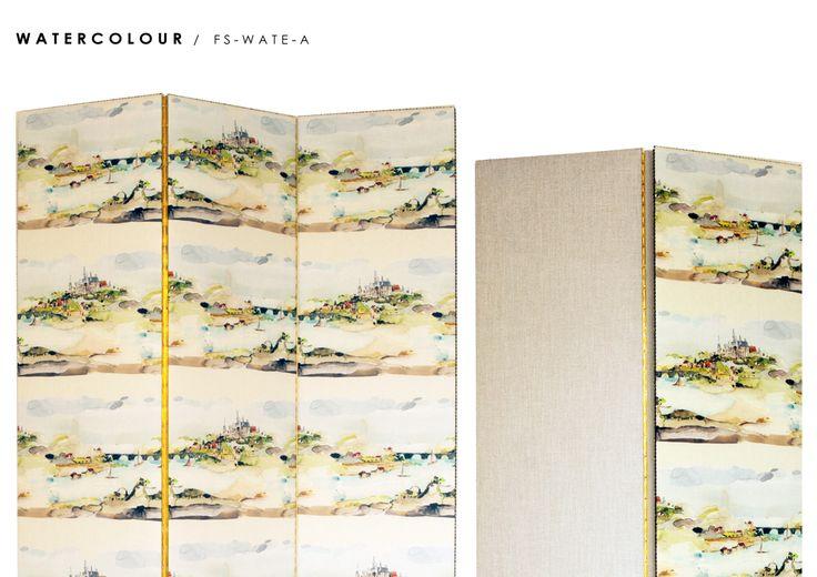 Watercolor Room Divider Screen - Fold Screens