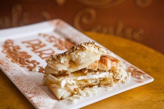 Aprenda a fazer croissant de chocolate branco com queijo brie (Foto: Divulgação)