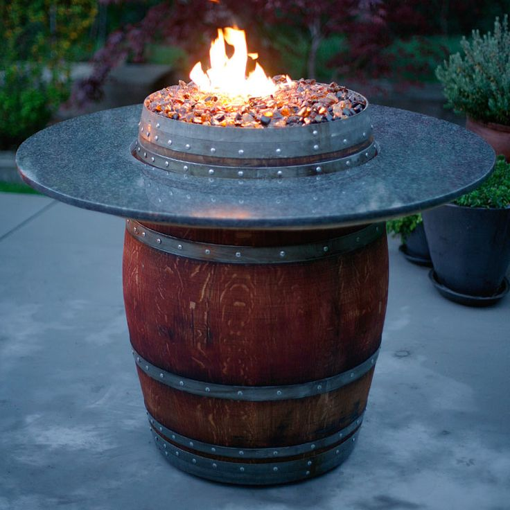 The Grand Wine Barrel Fire Pit Table: Fireglass, Fire Pits, Glass Rocks & - 64 Best Images About Fire Glass On Pinterest Fire Pits