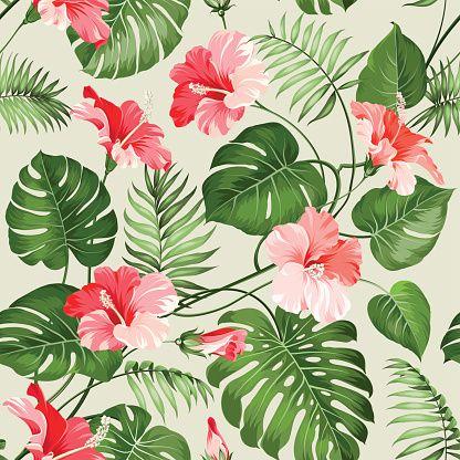 Vector Art : Seamless tropical pattern