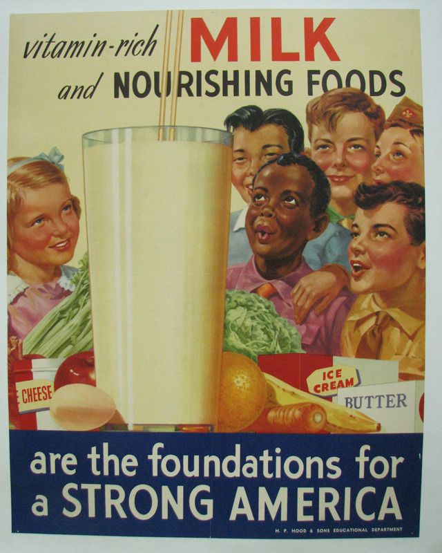 Vintage Dairy Milk Poster Showing Asian And An African American Children Quite Unusual Occurrence In Advertising Of The Period After