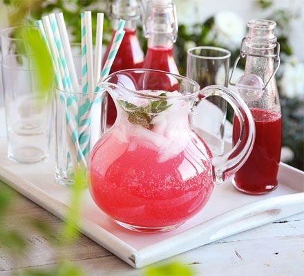 Preserve the flavours of a batch of raspberries in this refreshing concentrated drink - delicious with soda on ice #AnneofGreenGables