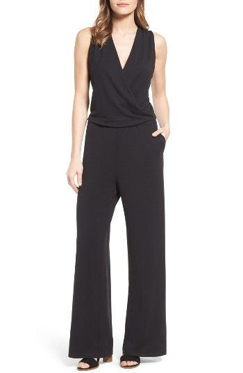 Free shipping and returns on Halogen® Knit Jumpsuit (Regular & Petite) at Nordstrom.com. For the days when you need to ricochet from work mode to an evening out, this elegant jersey jumpsuit has you covered. A slouchy-chic surplice neckline tops fluid trousers cut with a straight, wide-leg silhouette.