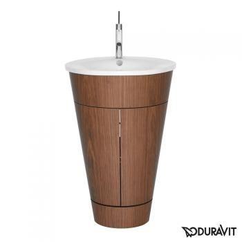 Duravit Starck 1 Waschtischunterbau stehend amerikanischer Nussbaum Echtholzfurnier