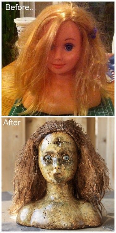 Awesome diy zombie doll.... with a thrifted doll…