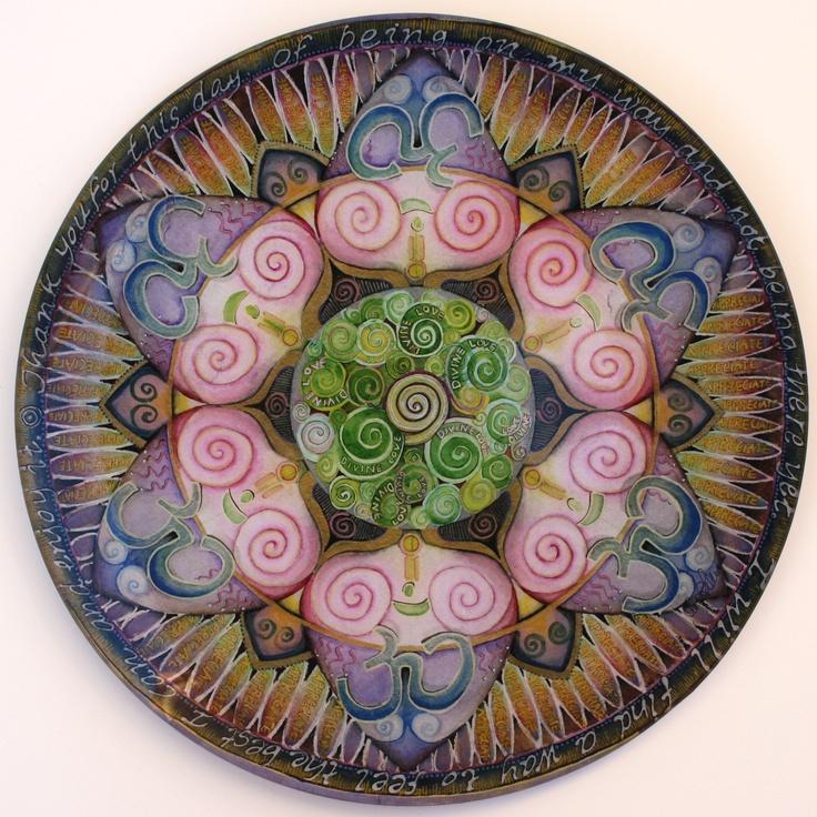 Appreciation Mandala Art Plate by Mandala Jo.