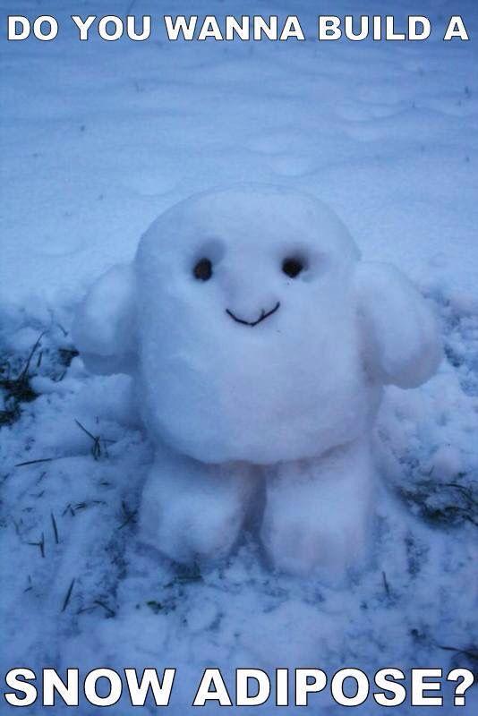 cute ☺ a snowman Adipose ☺♥♥