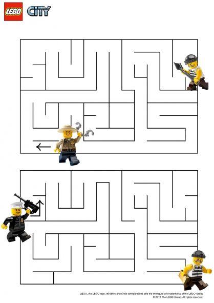 coloriage lego city le labyrinthe
