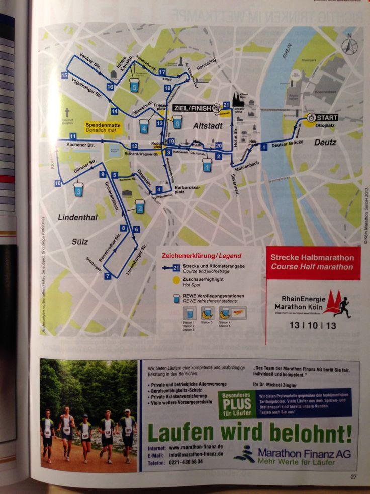 Marathon Strecke Köln