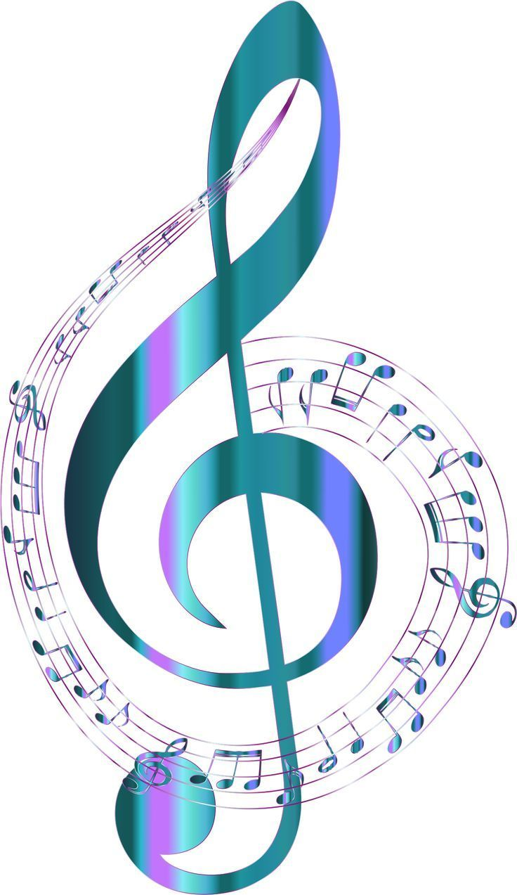 Turquoise Musical Notes Typography No Background By Gdj