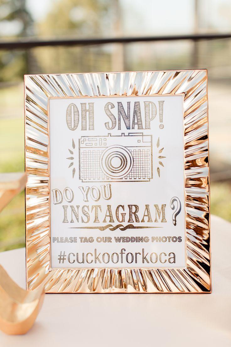 gold frame oh snap instagram sign