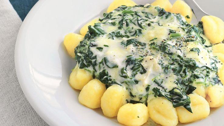 Gnocchi mit Spinat und Gorgonzola