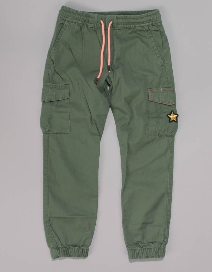 Replay Green Star Logo Trousers | Accent Clothing