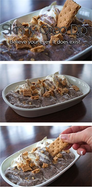 Skinny Oreo Dip Recipe!  The perfect healthy snack to indulge in!  Easy and SO delicious!!