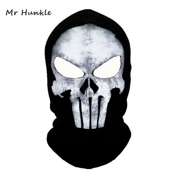 FuzWeb:Black Punisher Mask Balaclava Beanies Hats Men Ghost Skull Full Face Warmly Mask Hood Beanie Ggorros Hombre Casquette Bbalaclava