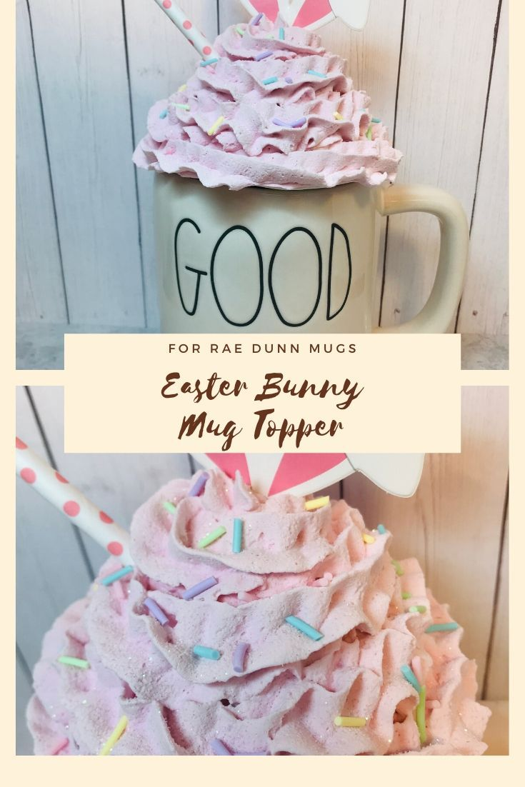Large Faux Whip Peep Easter Topper