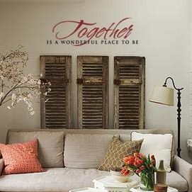 Together Is A Wonderful Place To Be wall art decal vinyl lettering home decor