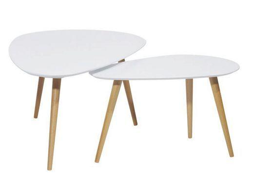 Konferenční stolek v sadě 2 kusů od CARRYHOME: vzpomínka na 50.léta!