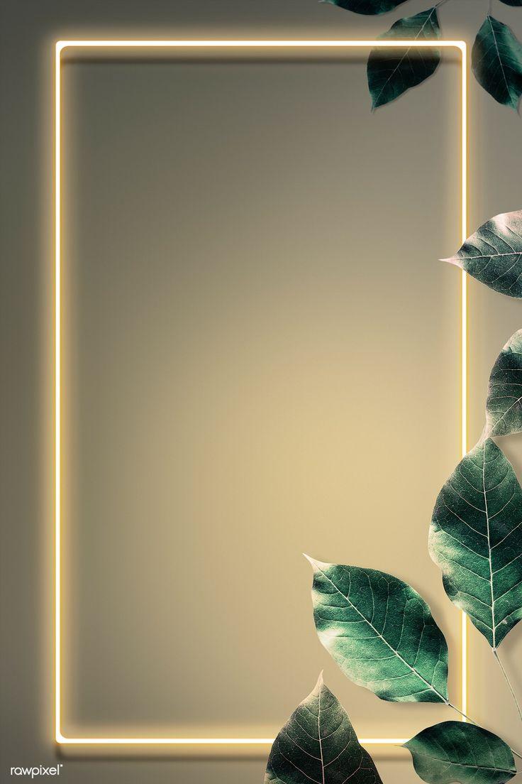 Download Premium Illustration Of Green Leaf Decorated Neon