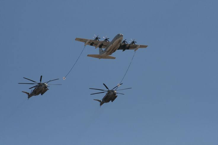 CH-53s tanking from KC-130 Miramar 2011