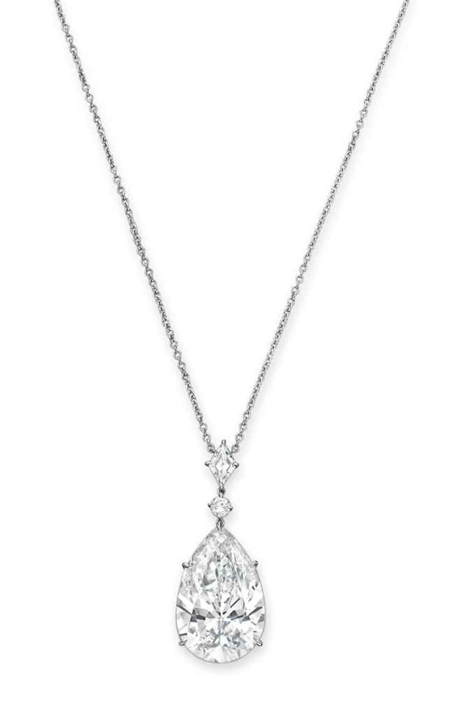 An important diamond pendant necklace #christiesjewels
