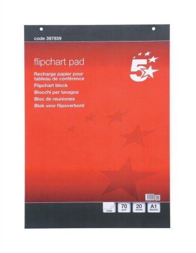 5 Star Meeting-Flipchart-Block perforiert 20 Blatt A1 blanko 5 St�ck