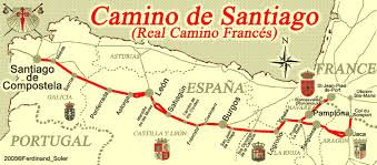 Image result for map of camino de santiago trail