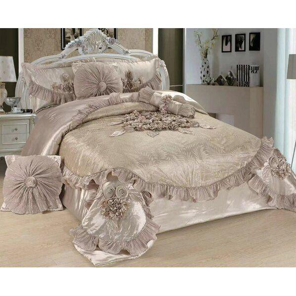 Ferndale Sweet Victorian 6 Piece Satin Comforter Set Comforter Sets Comforters Vintage Bedroom Furniture