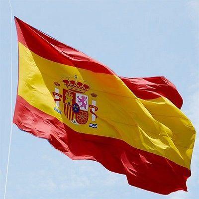 Bandera De España 150x90 Cm Adaptada Mastil Española Grande Spain Anima La Roja