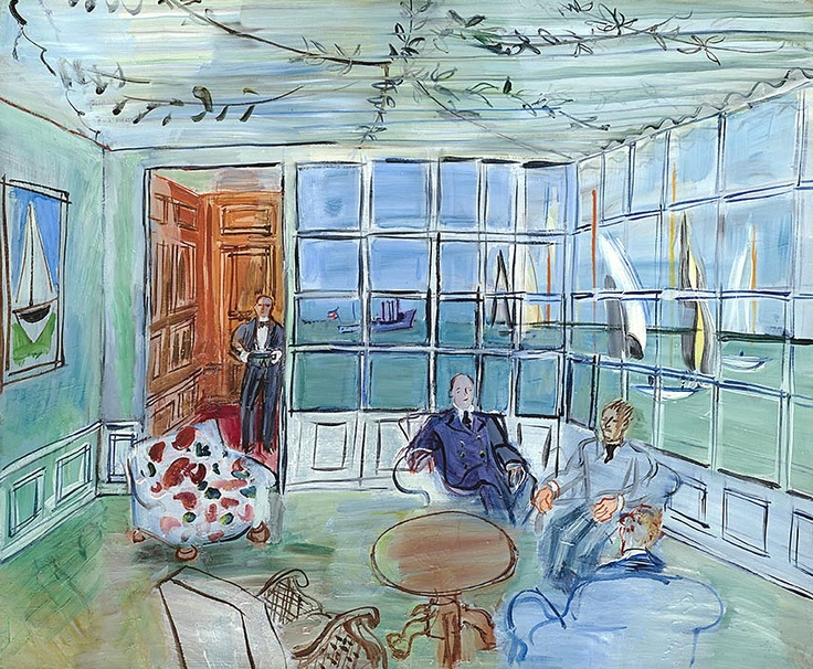 Raoul DUFY (1877-1953) Le Royal Yacht Squadron, Cowes