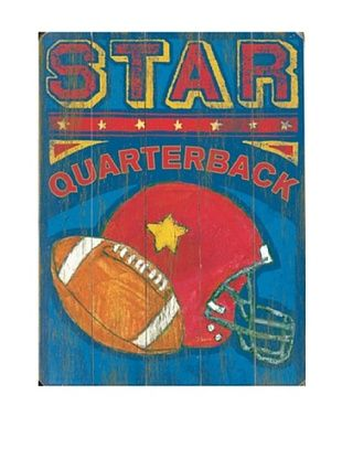 68% OFF Artehouse Star Quarterback Wood Sign