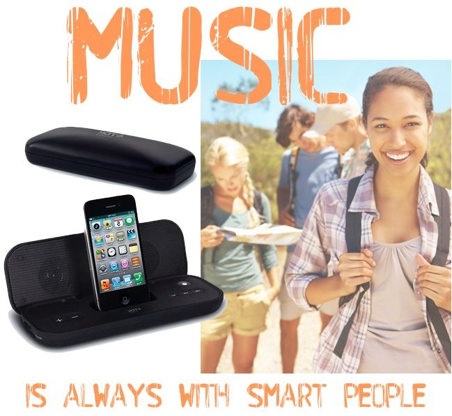 #Travel speaker by TDK: ideal for #music enthusiasts on the go. It features a built-in FM #radio controlled directly from your iPod/iPhone screen and compact #design that complements your #audio device. Its #folding design and slim profile make it the perfect travel #companion! http://bit.ly/1Dn7VOr #technology #fun #trip #friendship