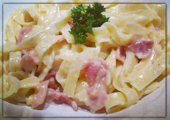 Ταλιατέλες με τυριά και μπέικον - Συνταγές Μαγειρικής - Chefoulis