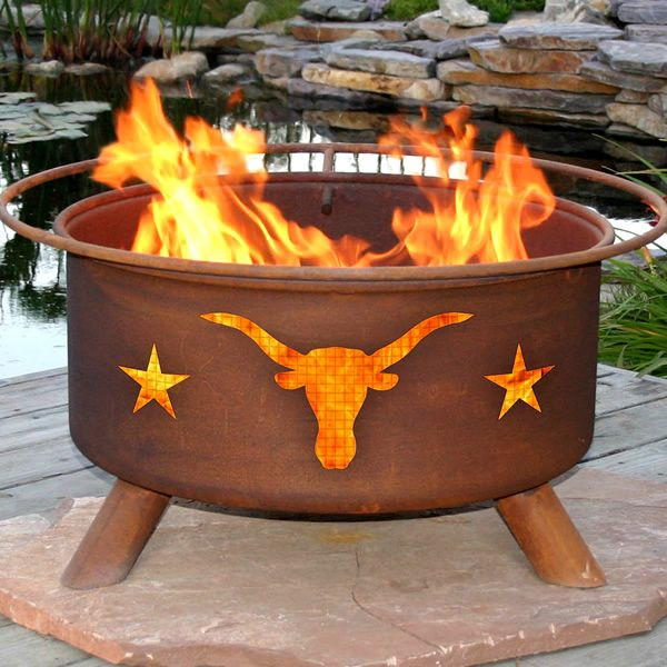 Texas Longhorn Fire Pit from http://www.woodlanddirect.com