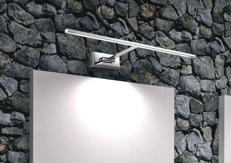 ANDROMEDA LAMPADA DA PARETE A LED IN METALLO CROMATO Lampade per il bagno allo specchio
