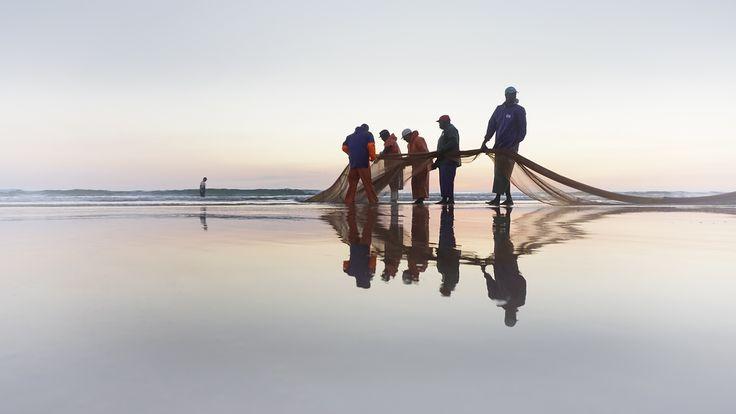 NEPTUNO team Arte xávega, Praia da Rainha - Costa de Caparica