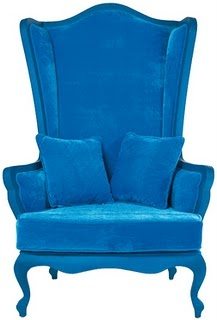 if this blue velvet armchair doesn't scream alice in wonderland i don't
