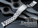 20mm Endmill 316L Stainless Steel Watch Band for Seiko Solar Power SSC015, Submariner Diver Clasp