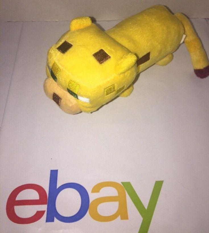 Ocelot Mojang Minecraft Gamer Plush Toy Yellow Dog? Pixels    eBay