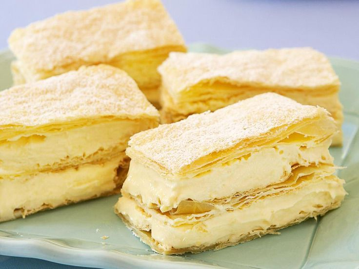 Creamy vanilla custard and layers of light pastry dusted with icing sugar, a piece of French vanilla slice is a perfect afternoon treat, especially with a cup of good coffee on the side.