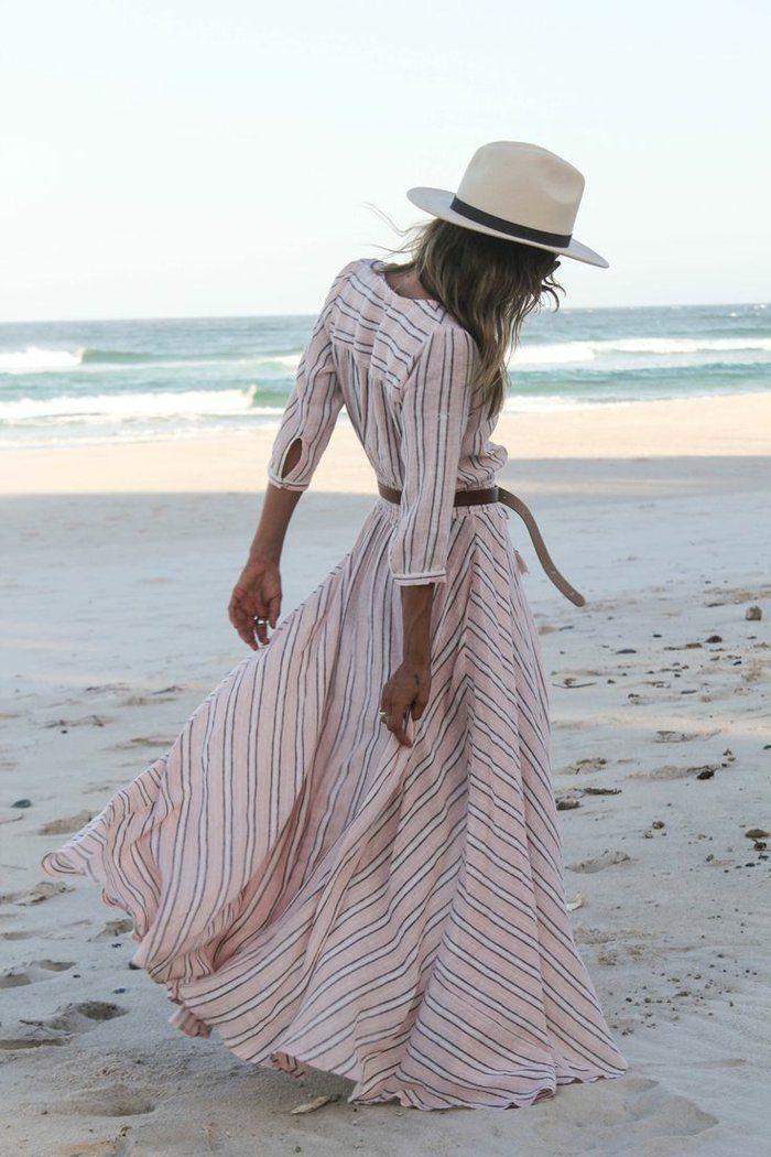 longue-robe-d-été-pas-cher-longue-robe-été-pas-cher-stripes-au-bord-de-la-mer