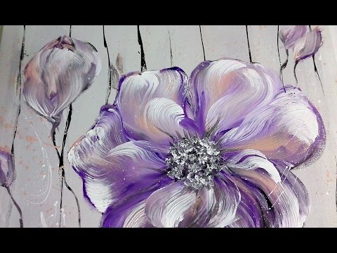 Einfach Malen - Blumen - Acrylmalerei - Easy Painting - Flowers - Acrylic Painting - YouTube