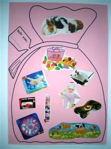 Dit is heel leuk om te doen met groep 3 of 4. Gewoon alle kinderen wat speelgoed folders of tijdschriften laten meenemen en lekker gaan knippen en plakken.