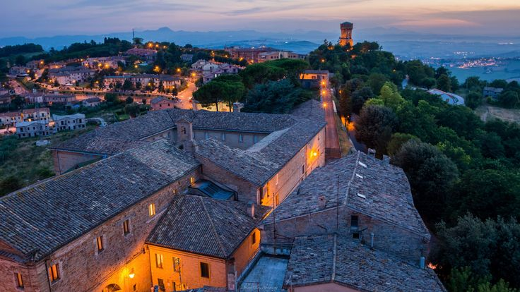 Offagna - Marche - Italy. The sunset at the medieval city of Offagna