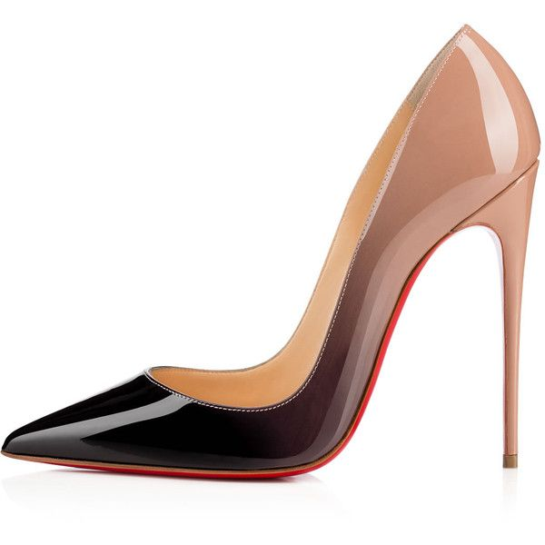 Christian Louboutin So Kate ($745) ❤ liked on Polyvore featuring shoes, pumps, christian louboutin, chaussures, heels, louboutin, pointed toe high heel pumps, stiletto heel pumps, pointed-toe pumps and patent leather pumps